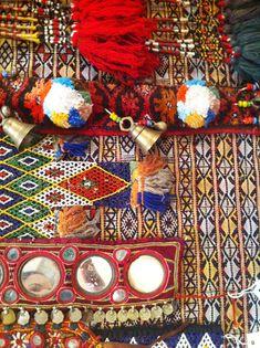 tassels, bells, pompoms, shisha mirrors, beads. AKA heaven. :P