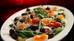 Warm ocean trout niçoise salad