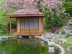 Japanese Tea house for oriental gardens made in the UK from .- Japanese Tea house for oriental gardens made in the UK from softwood Japanese Hardwood Tea House - Japanese Bath House, Japanese Style House, Zen Garden Design, Japanese Garden Design, Japanese Gardens, Japanese Interior, Shoji Doors, Asian House, Japan Garden
