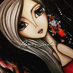 416 Likes, 17 Comments - Romi Lerda Art Sketches, Art Drawings, Painting Corner, Painting Art, Pencil Drawings Of Girls, Alcohol Ink Art, Arte Pop, Painting Wallpaper, Art Journal Inspiration