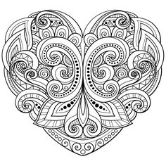 coloring pages for adults hearts 180 Best Hearts + Love Coloring Pages for Adults images in 2019  coloring pages for adults hearts