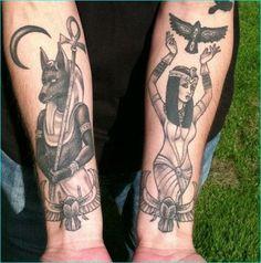 Egyptian Tattoo Design on Hand 15