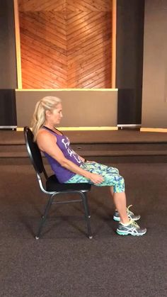 Senior Fitness, Yoga Fitness, Wellness Fitness, Gym Workout For Beginners, Workout Videos, Easy Workouts, At Home Workouts, Dieta Low, Chair Exercises