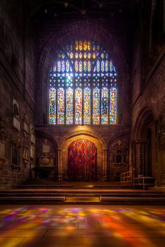 ༺♥༻Stained Glass Window in Chester Cathedral, UK༺♥༻