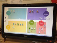 Organized desktop design