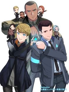 dbh connor x markus * dbh connor - dbh connor fanart - dbh connor x markus - dbh connor cute - dbh connor x hank - dbh connor wallpaper - dbh connor aesthetic - dbh connor and hank father and son Detroit Being Human, Detroit Become Human Game, Playstation, Xbox, Cartoon Network, Comic Collage, Outdoor Fotografie, Quantic Dream, Becoming Human