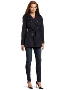 Tommy Hilfiger Women's Beanie Classic Spring Trench Coat for $179.99