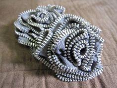 Shannon Makes Stuff: Messy Zipper Flower Headband