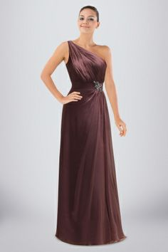 chiffon-empire-oneshoulder-bridesmaid-dress-with-ruched-bodice-and-glittering-brooch