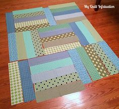 Sewing Baby Fort Worth Fabric Studio: Oh Sew Baby: Strip Tango Baby Quilt Tutorial. I'm not sure I like this for a baby but I like the idea Strip Quilt Patterns, Jelly Roll Quilt Patterns, Beginner Quilt Patterns, Strip Quilts, Quilting For Beginners, Owl Patterns, Crochet Patterns, Baby Quilt Tutorials, Quilting Tutorials