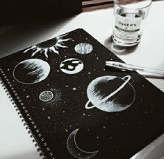Resultado de imagen para dibujo tumblr de planetas