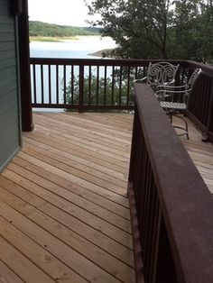 I really like this deck look with the dark on light colors i really like this deck look with the dark on light colors backyard pinterest porch railings decking and porch aloadofball Gallery