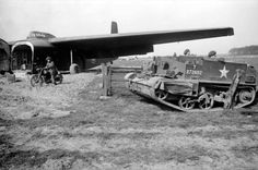 A Universal carrier unloaded from a Hamilcar glider during the Rhine crossing, 24-25 March 1945. MAR  25 1945 A brittle German resistance continues to be dangerous - See more at: http://ww2today.com/