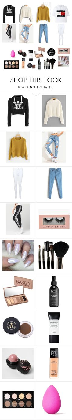 """Untitled #2"" by sara-myllymaa on Polyvore featuring beauty, adidas, Tommy Hilfiger, Miss Selfridge, NYX, Glamour Status, Urban Decay, Smashbox, River Island and beautyblender"