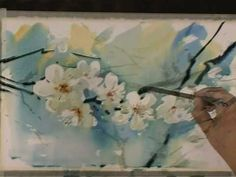 demo of watercolor and ink painting Art Watercolor, Watercolor Video, Watercolor Projects, Watercolour Tutorials, Watercolor Flowers, Painting Flowers, Painting Videos, Painting Lessons, Painting Techniques