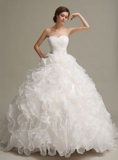 77+ Wedding Dresses with Ruffles - Best Dresses for Wedding Check more at http://svesty.com/wedding-dresses-with-ruffles/