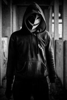 Image about cool in 🔪🎩Creepypasta Cosplay 😠 by ShugaSukaru Dark Fantasy Art, Dark Art, Dossier Photo, Character Inspiration, Character Art, Hacker Wallpaper, Mask Design, Horror, Black And White