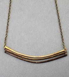 crow jane jewelry | ombre arc brass necklace by crow jane jewelry on scoutmob shoppe