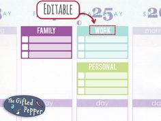 Apr-Jun Half-box Checklist [Printable and Editable], Erin Condren life planner stickers, customizable and editable