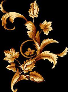 Motif Arabesque, Batik Art, Baroque Pattern, Scandinavian Folk Art, Foto Art, Flower Wallpaper, Pyrography, Fabric Painting, Stencil