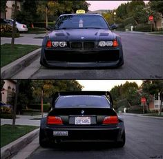 BMW E36 M3 wide stance black