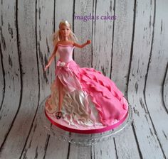 This cake was inspired by amazing cakes by Ipoh Bakery. It was one of two cakes made for my little princess birthday. Barbie Cake, Barbie Party, Barbie Dolls, Doll Cakes, Ipoh, Little Princess, How To Make Cake, 3rd Birthday, Amazing Cakes
