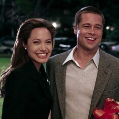 Every Step of Brad and Angelina's Secret Wedding Plan — in GIFs We got a whopping surprise last week when we learned Brad Pitt and Angelina Jolie were secretly married in France, and now we're trying to put together all the Brad And Angelina, Brad Pitt And Angelina Jolie, Jolie Pitt, Brad Pitt Gif, Movie Couples, Cute Couples, Hollywood Actresses, Actors & Actresses, Bradd Pitt