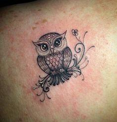 owl tattoo for women . owl tattoo for women small Baby Owl Tattoos, Tribal Owl Tattoos, Tattoos Mandala, Tattoos Geometric, Cute Tattoos, Body Art Tattoos, Sleeve Tattoos, Circle Tattoos, Neck Tattoos