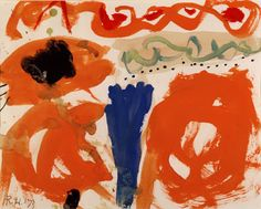 Roger Hilton Untitled 1973 gouache on paper, 9 x 11-1/2 inches Courtesy Flowers…