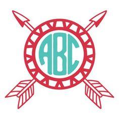 Arrow Circle Monogram Initial Decal Sticker