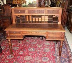Beautiful French Antique Louis XVI Oak Secretary Desk - $2,612.50