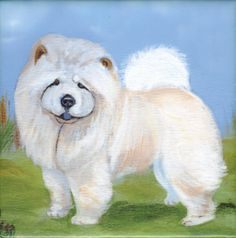 Chow Chow Dog Art Tile By Sharon Nummer by caninepainter on Etsy, $20.00