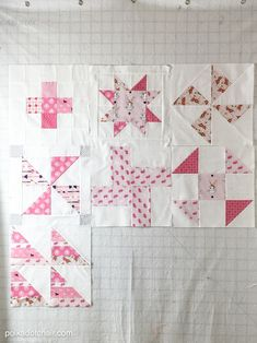 Free Quilt Tutorial and Pattern for a Log Cabin Quilt block; the April Block of the Month offered on Cute Quilts, Easy Quilts, Quilting Tutorials, Quilting Designs, Quilting Ideas, Pattern Blocks, Quilt Patterns, Block Patterns, Polka Dot Chair