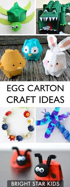 It's amazing what you can create out of the humble egg carton. Here is a list of 22 egg-cellent egg carton craft ideas to try with your children. Craft Activities For Kids, Preschool Crafts, Diy Crafts For Kids, Toddler Activities, Projects For Kids, Children Crafts, Craft Ideas, Kids Diy, Craft Projects
