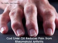 STUDY SHOWS COD LIVER OIL REDUCES RHEUMATOID ARTHRITIS PAIN. Cod liver oil was chosen by the study's authors over plain fish oil because cod liver oil contains vitamins A and D, which fish oil does not. Vitamin A protects against liver damage from Methotrexate therapy, a mainstay in the treatment of rheumatoid arthritis. Cod liver oil is also protective against vitamin D deficiency, which is highly prevalent in the disease.