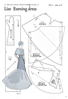 Lise Evening Dress Pattern - Page 1 of 3