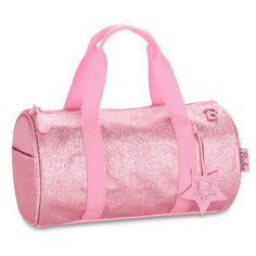 """Children's Duffle Bags and luggage. """"Sparkalicious™ Pink"""" duffle bag is perfect for sports, travel, and sleepovers, and customizable to make it all yours. For every backpack purchase, we donate a schoolbag and supplies to a child in need. Pink Duffle Bag, Duffel Bags, Pack Up And Go, Mode Chanel, Mode Streetwear, Pink Kids, Girls Bags, Cute Bags, Dance Outfits"""