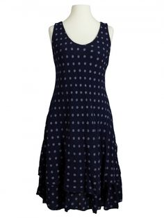 Damen Kleid im Lagenlook, blau von Diana bei www.meinkleidchen.de