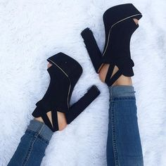 noir, vêtements, mode, talons, chaussure