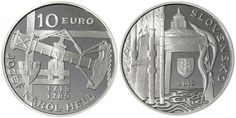 Jozef Karol Hell Silver Coin -  remembers the important contributions of Jozef Karol Hell (1713 - 1789) whose inventions and discoveries were instrumental in the further development of the mining industry of the Banská Štiavnica region, Slovakia.
