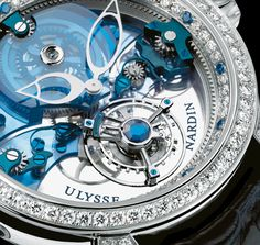 """Royal Blue Tourbillon"" ~ Ulysse Nardin is a watch manufacturer founded in 1846 in Le Locle, Switzerland, where its headquarters remain. Amazing Watches, Beautiful Watches, Cool Watches, Dream Watches, Fine Watches, Men's Watches, Ulysse Nardin, Le Locle, Expensive Watches"