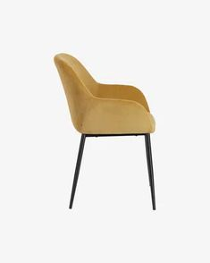 Konna chair in mustard corduroy   Kave Home Cord Cover, Foot Pads, Steel Structure, Wooden Flooring, Main Colors, Foot Rest, Recycled Materials, Your Space, Recliner