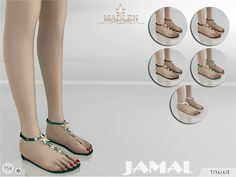 The Sims Resource: Madlen Jamal Sandals by MJ95 • Sims 4 Downloads