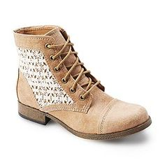 Gorgeous Combat Boot with Lace @ Kmart! Just got a pair and I'm in love