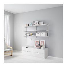 ALGOT Riel susp/baldas, blanco - IKEA