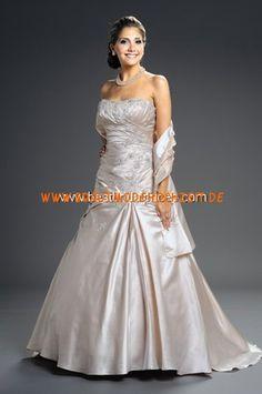 Klassisches Brautkleid stuttgart aus Satin A-Linie online kaufen 2012