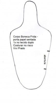 Boneca Frida porta rolo de papel 1