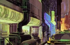 Syd Mead concept art from the Blade Runner 30th Anniversary blu-ray still gallery, part one: exteriors