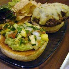 Guacamole Cilantro Lime Cheeseburger Allrecipes.com