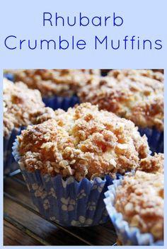 Low FODMAP Recipe and Gluten Free Recipe - Rhubarb crumble muffins Rhubarb Muffins, Rhubarb Cake, Rhubarb Desserts, Baking Recipes, Cake Recipes, Dessert Recipes, Snack Recipes, Snacks, Fodmap Baking